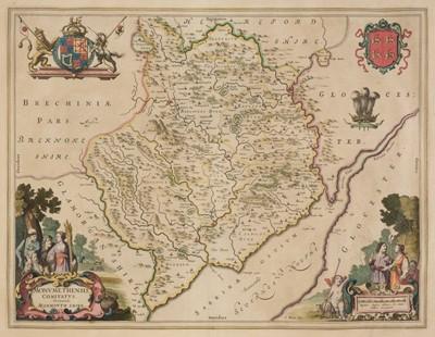 Lot 29 - Monmouthshire. Blaeu (Johannes), Monumethensis comitatus..., circa 1645