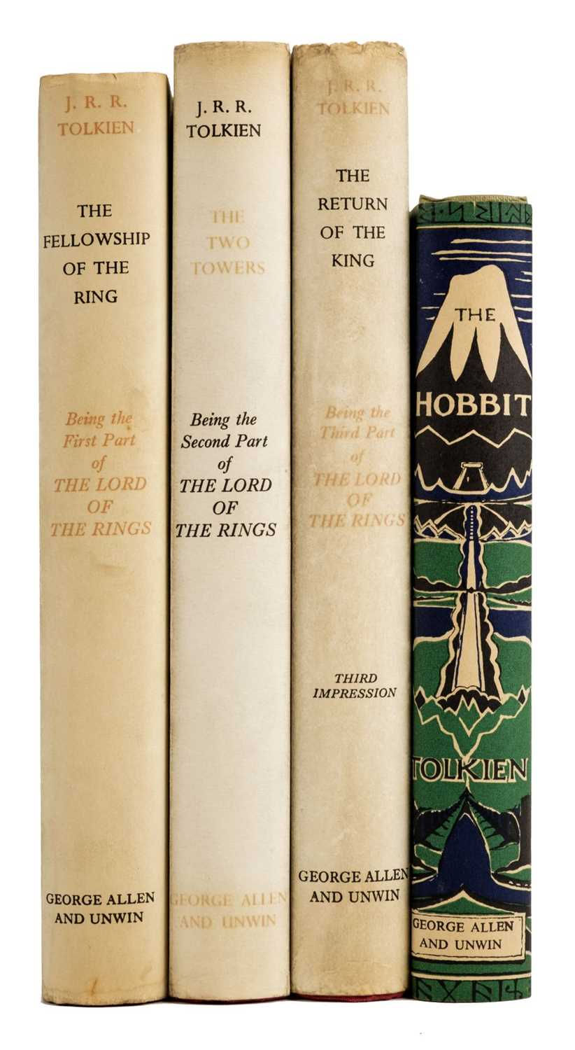 Lot 367-Tolkien (J.R.R.) The Lord of the Rings, 3 volumes, 1957-59