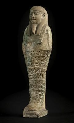 Lot 43-Ancient Egypt. 26th Dynasty, Shabti of Psamtek-Meri-Ptah, c.500 B.C