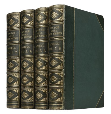 Lot 133-Daniell (William). A Voyage Round Great Britain, 1st edition, deluxe issue, 1814-25