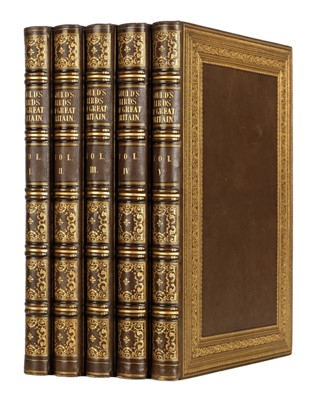 Lot 136 - Gould (John). The Birds of Great Britain, 5 volumes, 1st edition, 1862-73