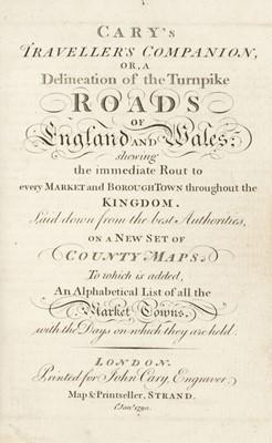 Lot 36 - Cary (John). Cary's Traveller's Companion..., 1790
