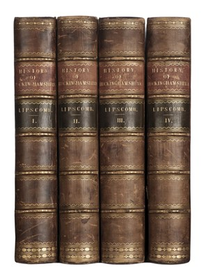 Lot 48-Lipscomb (George). The History and Antiquities of the County of Buckingham, 4 vols., 1847