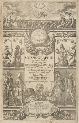 Lot 6-Heylyn (Peter). Cosmographie, In Four Books, 1st edition, London: Henry Seile, 1652