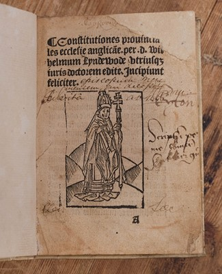 Lot 375 - Lyndwood (William). Constitutiones provinciales ecclesiae Anglica[na]e, Wynkyn de Worde, 1499