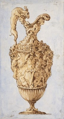 Lot 357-Delafosse (Jean-Charles, 1734-1789, manner of). Design for a ewer, mid 18th century