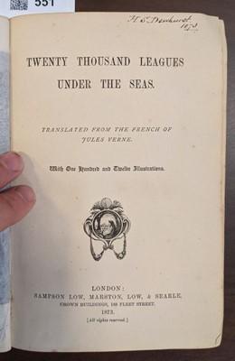 Lot 551 - Verne (Jules). Twenty Thousand Leagues Under the Seas, 1st UK edition, 1873