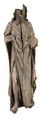 Lot 30-Polychrome Figure. A Continental lime wood figure of Christ, 17th century or earlier
