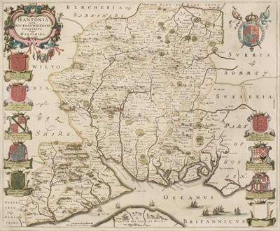 Lot 21 - Hampshire. Blaeu (J.), Hantonia sive Southantonensis comitatus vulgo Hant-shire, circa 1645