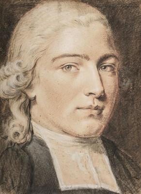 Lot 355-German School. Portrait of a young gentleman, mid 18th century