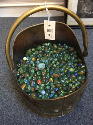Lot 23-Marbles. An extensive collection of 20th century glass marbles