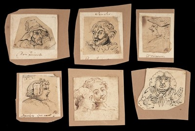 Lot 358-Esdaile (William, 1758-1837). A collection of 21 pen and ink sketches after Hogarth