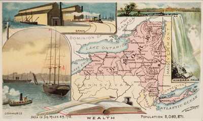 Lot 2-Arbuckle (J & C). Arbuckles' Illustrated Atlas of the United States of America, circa 1890