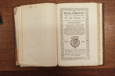 Lot 470-Reglamentos y Providencias Expedidos…, a sammelband of 21 items, 1753-87