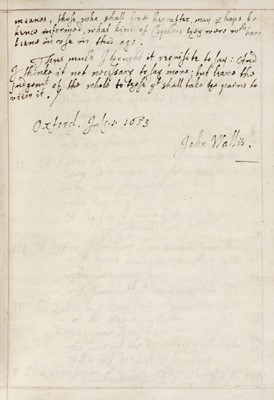 Lot 375-Wallis (John). A Collection of letters intercepted in Cipher during the late warres in England, 1653