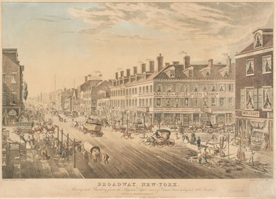 Lot 225-New York. Hill (J.), Broadway New-York. Shewing each Building..., circa 1836