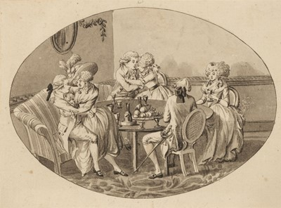 Lot 363-Dighton (Robert, 1752-1814).  6 drawings illustrating the story of the Prodigal Son, 1780s