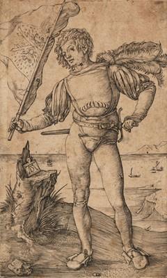 Lot 383-Durer (Albrecht, 1471-1528). The Standard Bearer, 1502