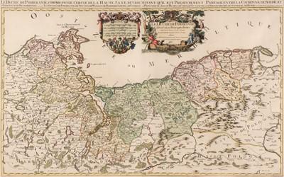 Lot 39 - Poland. Jaillot (Alexis-Hubert), Le Duche de Pomeranie, 1692