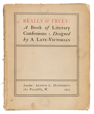 Lot 622 - Woolf (Virginia, 1882-1941). Really & Truly..., 1915