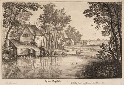 Lot 388-Hollar (Wenceslaus, 1607-1677). The Angler, 1650