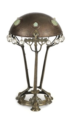 Lot 35-Table Lamp. A Continental Art Nouveau table lamp c.1890