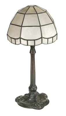 Lot 36-Table Lamp. An Art Nouveau bronze table lamp c.1890