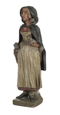 Lot 22-Lancashire Witch. A large terracotta figure c.1890