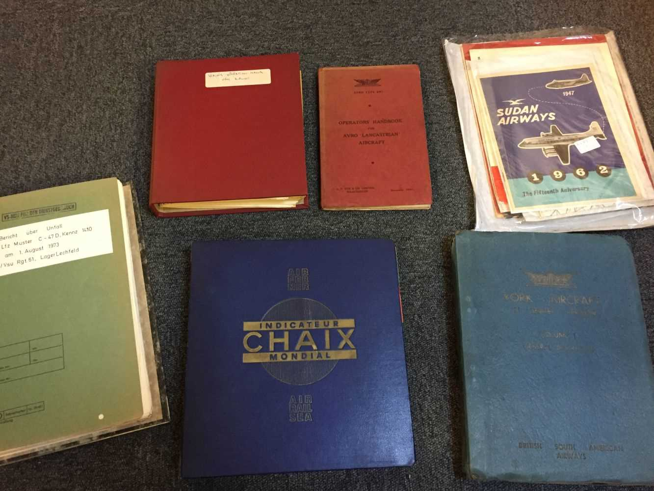 Lot 27 - Avro Lancastrian. Operators's Handbook and other aviation literature