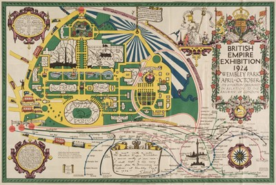 Lot 25-London. North (Stanley Kennedy), Map of the British Empire Exhibition, 1924