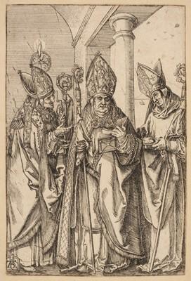 Lot 384-Durer (Albrecht, 1471-1528). The Three Bishops, Nicholas, Ulrich and Erasmus, circa 1510