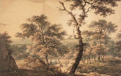 Lot 365-Serres (Dominic Michael, 1722-1793). Landscape with figures