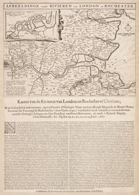 Lot 26-London. Visscher (Nicolas), Afbeeldinge vande Rivieren van London en Rochester, 1667