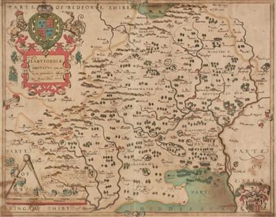 Lot 22 - Hertfordshire. Saxton (Christopher), Hartfordiae Comitatus nova, vera ac particularis, 1579
