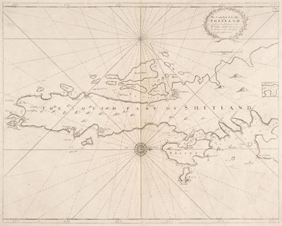 Lot 13-Collins (Capt. Greenville). The South part of the Isles of Shetland, circa 1720