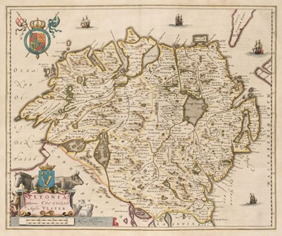 Lot 33-Northern Ireland. Blaeu (J.), Ultonia Hibernis Cui-Guilly; Anglis Ulster, Amsterdam circa 1645
