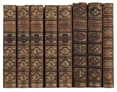 Lot 92 - La Mothe (N.). Histoire de la vie et du regne de Louis xiv, 5 volumes, The Hague, 1740
