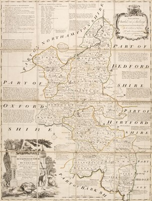 Lot 17-Folding maps. A mixed collection of 25 maps, 18th - 20th century