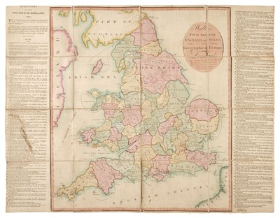 Lot 16-England & Wales. Wallis's Tour Through England and Wales, A New Geographical Pastime, 1794