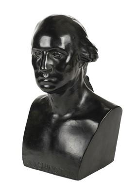 Lot 7-Washington bronze bust