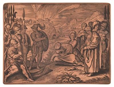 Lot 395-Merian (Matthaus, 1593-1650). Copper plate for Icones Biblicae