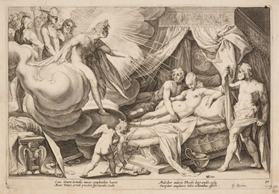 Lot 371-Baudous (Robert Willemsz de, 1574-1659). Phoebus exposing Mars and Venus