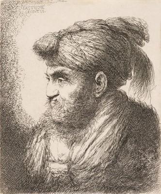 Lot 375-Castiglione (Giovanni Benedetto, 1609-1664). Man with beard and moustache
