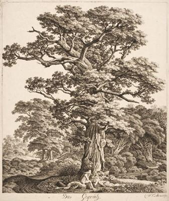 Lot 390-Kolbe (Carl Wilhelm, 1757-1835). Das Gespräch, 1800 [or slightly later]