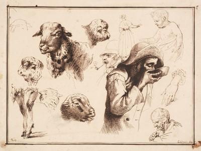 Lot 364-Londonio (Francesco, 1723-1783). Studies of Sheep and Figures
