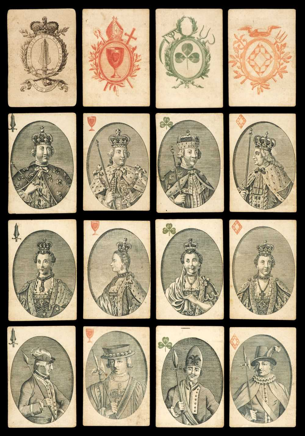 Lot 466 - Playing cards. A deck of playing cards, London: Rowley & Co., between 1774 & 1776