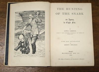 Lot 670 - Dodgson (Charles Lutwidge, 'Lewis Carroll'). The Hunting of the Snark, inscribed 1st edition