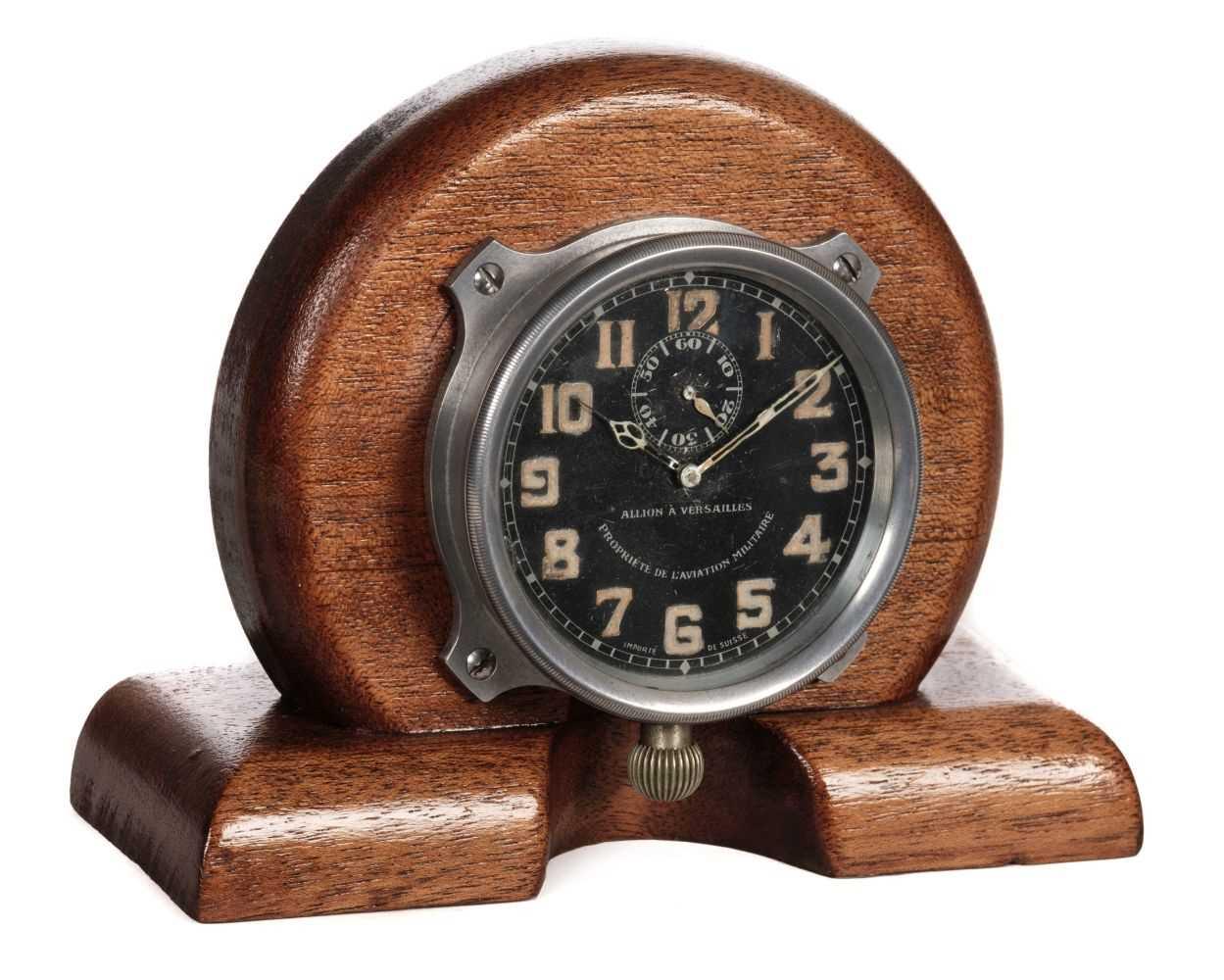 Lot 2-Aircraft Clock. A WWI French aircraft clock