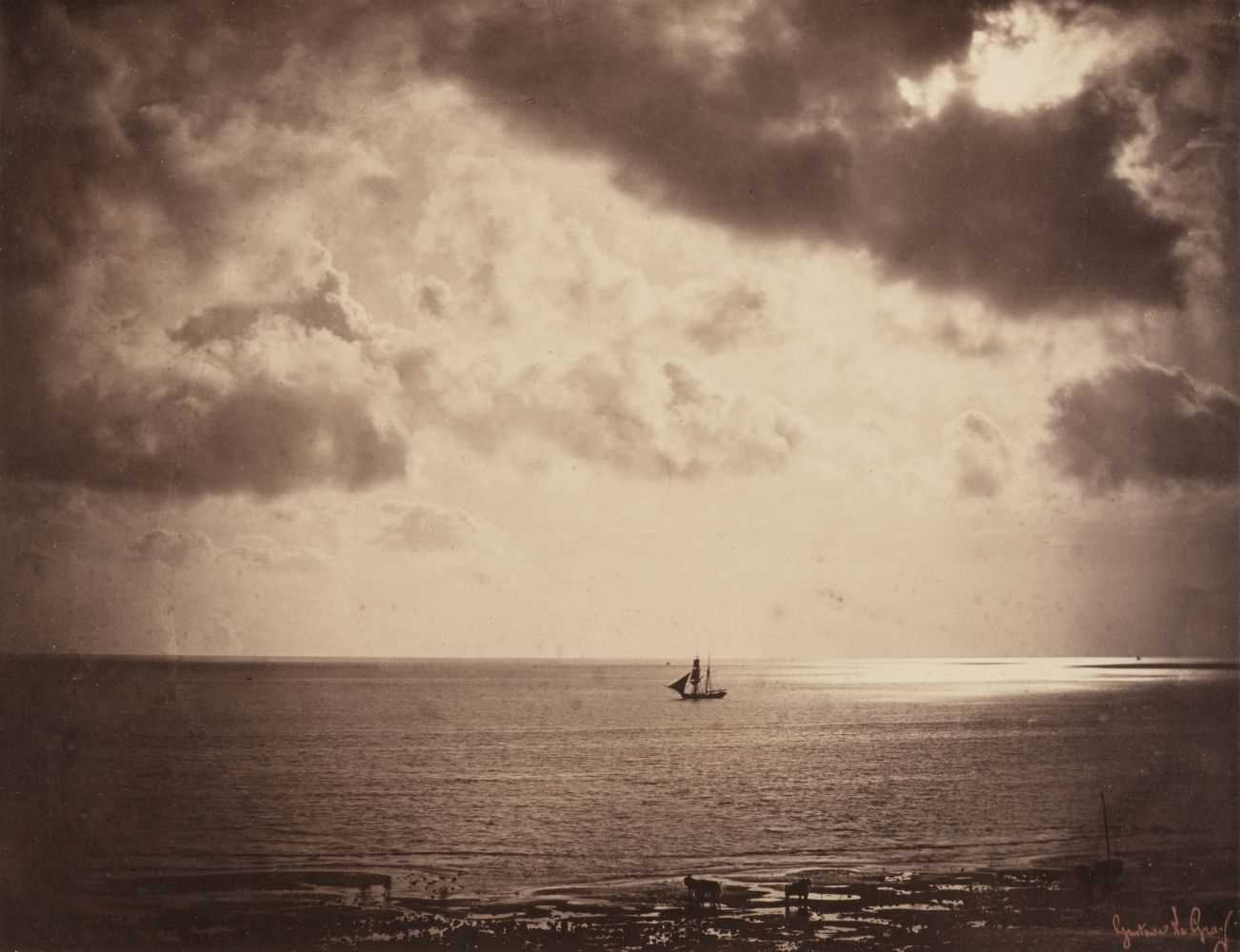 17 - Le Gray (Gustave, 1820-1884). Brick au Claire de Lune / Brig on the Water, 1856, albumen print