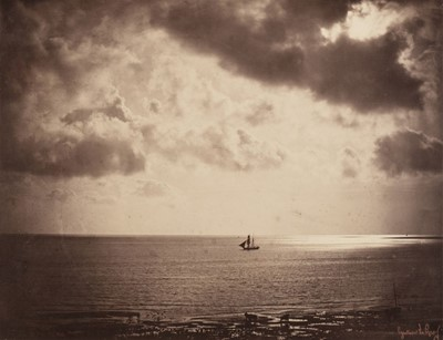 Lot 17-Le Gray (Gustave, 1820-1884). Brick au Claire de Lune / Brig on the Water, 1856, albumen print